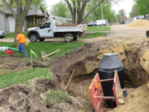 WaterSewer-acurrent work on upgrades prior to rebuilding 10th Street